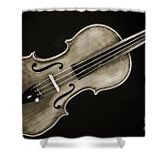 Photograph Of A Complete Viola Violin In Sepia 3370.01 Shower Curtain