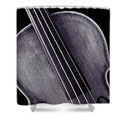 Photograph Of A Upper Body Viola Violin In Sepia 3369.01 Shower Curtain