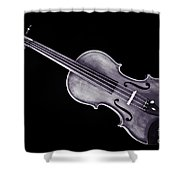 Photograph Of A Viola Violin Antique In Sepia 3376.01 Shower Curtain