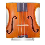 Photograph Of A Viola Violin Middle In Color 3374.02 Shower Curtain