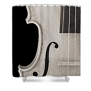 Photograph Of A Viola Violin Side In Sepia 3372.01 Shower Curtain
