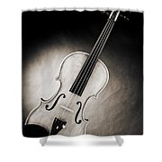 Photograph Of A Viola Violin Spotlight In Sepia 3375.01 Shower Curtain