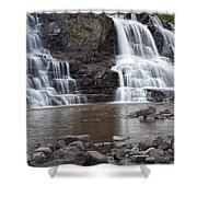 Photograph Of Lower Gooseberry Falls In Minnesota Shower Curtain