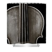 Photograph Or Picture Violin Viola Body In Sepia 3367.01 Shower Curtain