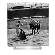 Photographers Including Dick Frontain Bullfight Nogales Sonora Mexico 1969 Shower Curtain
