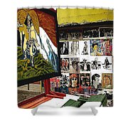 Photographer's Stand Us-mexico Border Town Nogales Sonora Mexico 2003 Shower Curtain