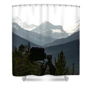 Photographing The Tonquin Valley Shower Curtain