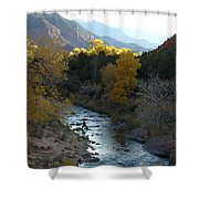 Photographing Zion National Park Shower Curtain