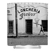Photography Homage Russell Lee Us-mexico Border Naco Sonora Mexico 1980 Shower Curtain