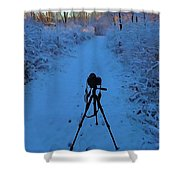 Photography In The Winter Shower Curtain