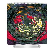 Photoshop Flowers Shower Curtain