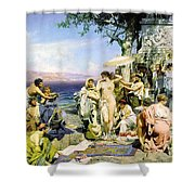 Phryne At The Festival Of Poseidon In Eleusin Shower Curtain