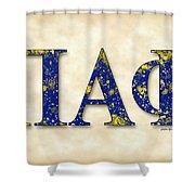 Pi Alpha Phi - Parchment Shower Curtain