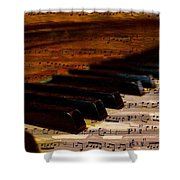 Piano And Music Shower Curtain