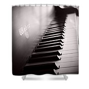 Piano At The Sprague House Shower Curtain