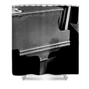 Piano In Black And White Shower Curtain