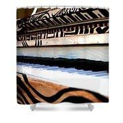 Piano In The Dark - Music By Diana Sainz Shower Curtain