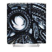 Piano Shower Curtain by James Christopher Hill