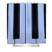 Piano Keys In Cyan Shower Curtain