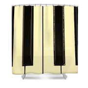 Piano Keys In Sepia Shower Curtain