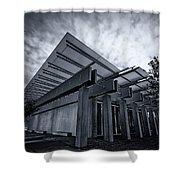 Piano Pavilion Bw Shower Curtain