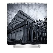 Piano Pavilion Bw Shower Curtain
