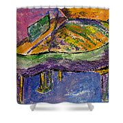 Piano Purple Shower Curtain