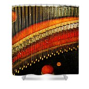 Piano Strings Shower Curtain