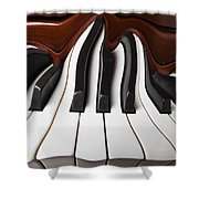 Piano Wave Shower Curtain