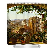 Piazza Barberini In Rome Shower Curtain