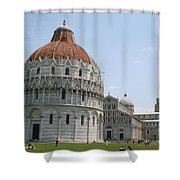 Piazza Del Duomo Pisa Shower Curtain