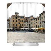 Piazza Del Mercato Lucca Shower Curtain