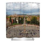 Piazza Del Popolo - Impressions Of Rome Shower Curtain