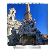 Piazza Navona Fountain Shower Curtain