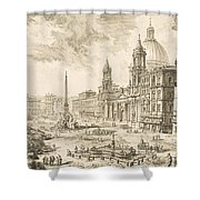 Piazza Navona Shower Curtain