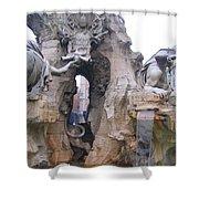Piazza Navonna Shower Curtain