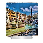 Piazza Navona - Rome Shower Curtain