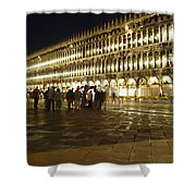 Piazza San Marco Shower Curtain by Ellen Henneke