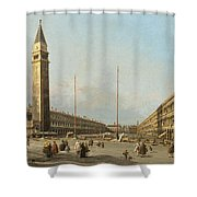 Piazza San Marco Looking South And West Shower Curtain