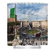 Piazza Venezia Shower Curtain