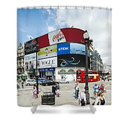 Picadilly Circus London Shower Curtain