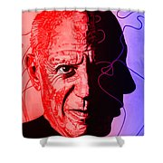 Picasso In Light Sketch 2 Shower Curtain