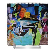 Picasso   Night Fishing At Antibes Shower Curtain
