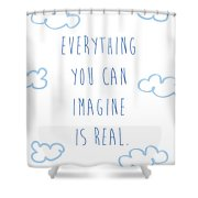 Picasso Quote Shower Curtain