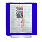 Picasso With Two Lesbians Shower Curtain