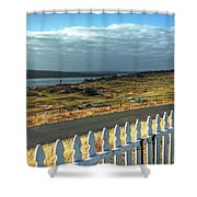Picket Fence - Chambers Bay Golf Course Shower Curtain