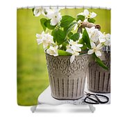 Picking Blossom Shower Curtain