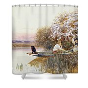 Picking Blossoms Shower Curtain