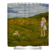 Picking Wildflowers Shower Curtain