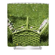 Picnic Basket Shower Curtain